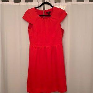 J Crew Cap Sleeve Red Dress